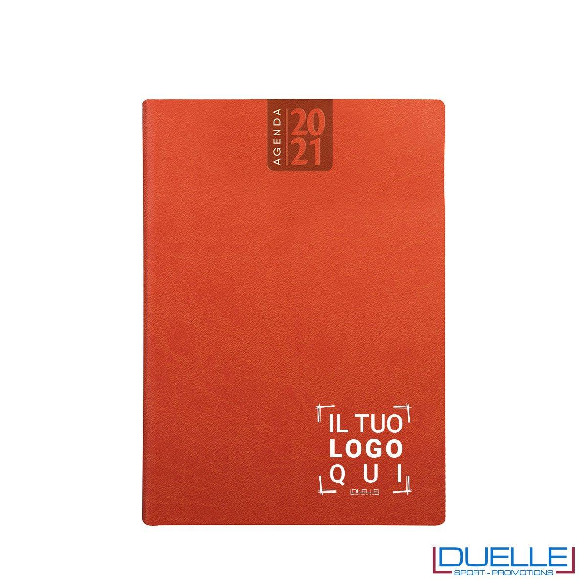 Agenda giornaliera personalizzata colore arancio