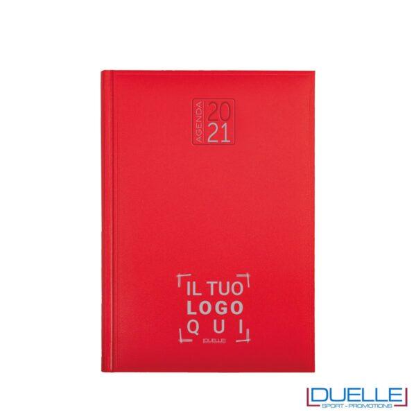 Agenda giornaliera personalizzata copertina gommata colore rosso