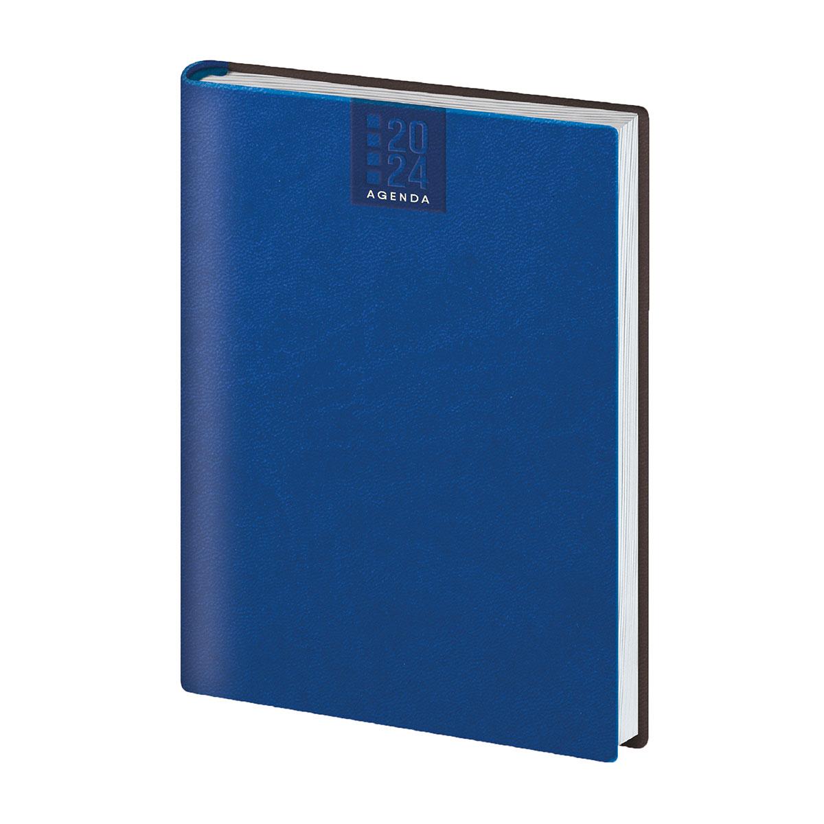 Agenda giornaliera personalizzata colore blu