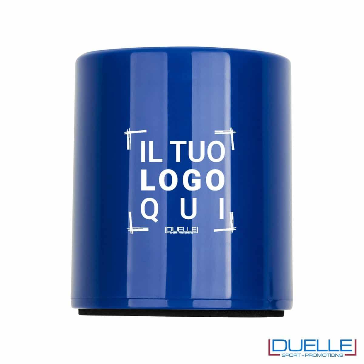 Cassa bluetooth personalizzata colore blu con stampa