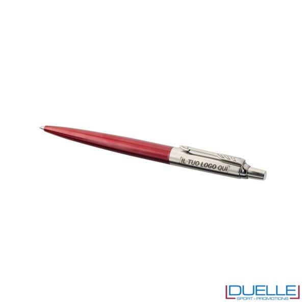 penna parker jotter in acciaio colore rosso personalizzata
