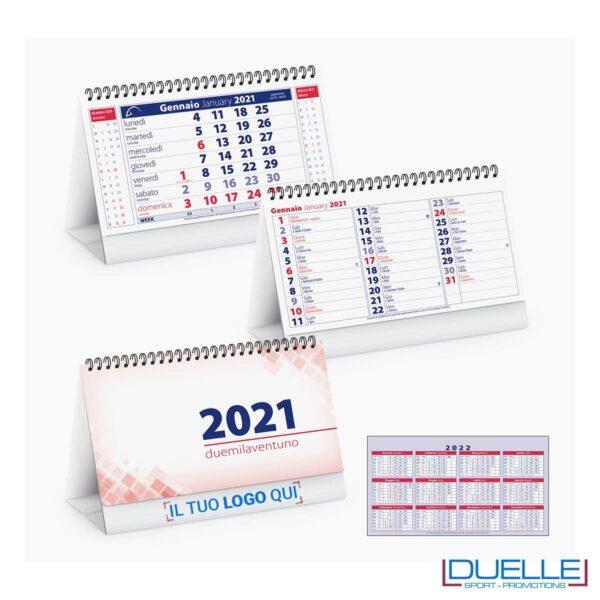 Calendario 2020 da tavolo promozionale colore rosso