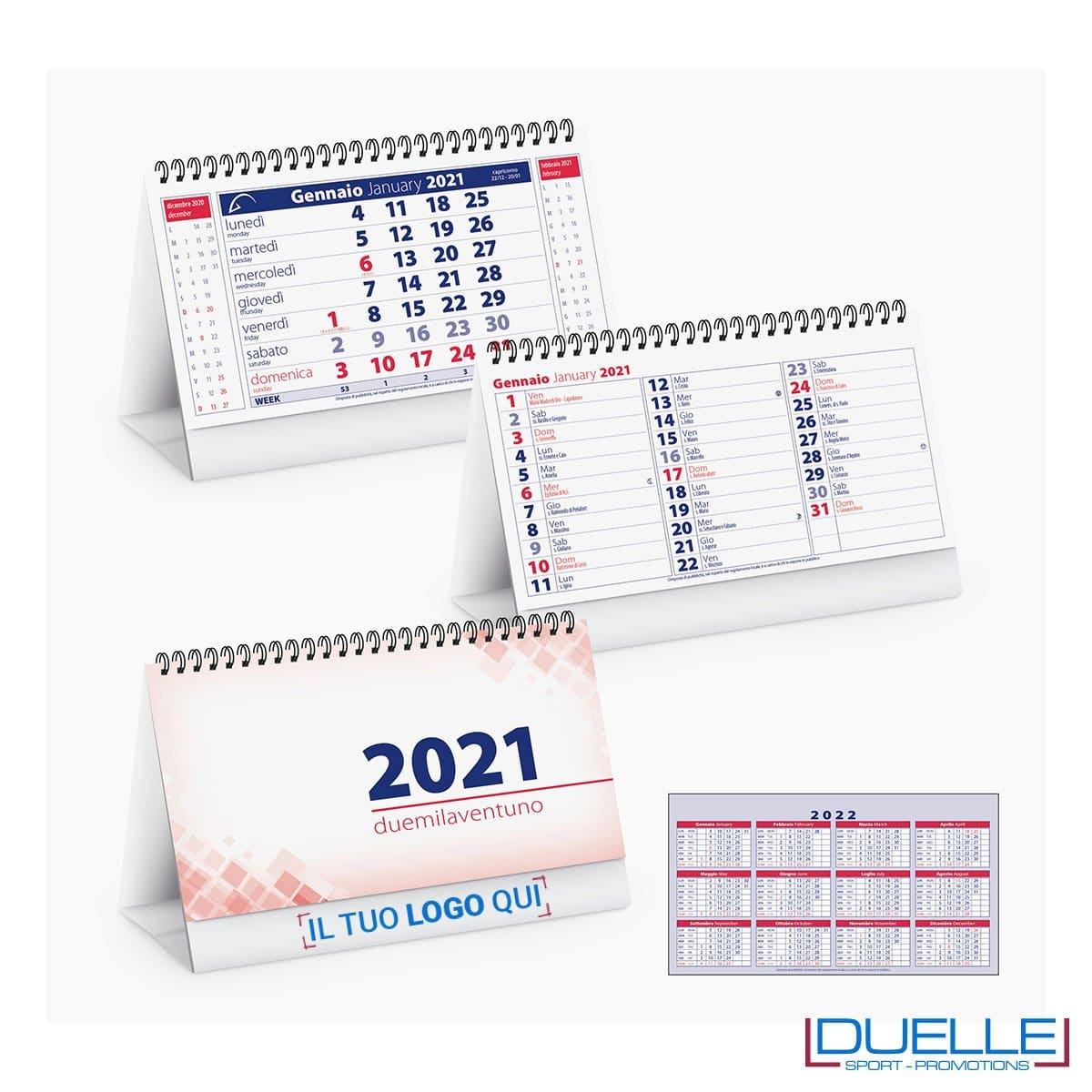 Calendario 2021 da tavolo personalizzato con stampa   DUELLE