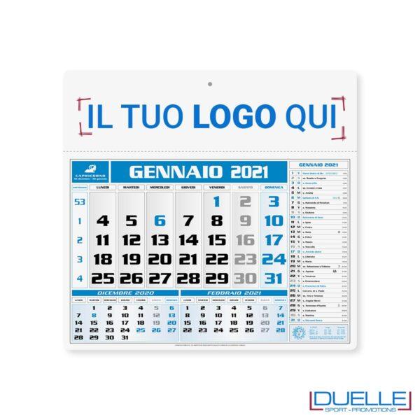Calendario olandese promozionale 2020 colore blu