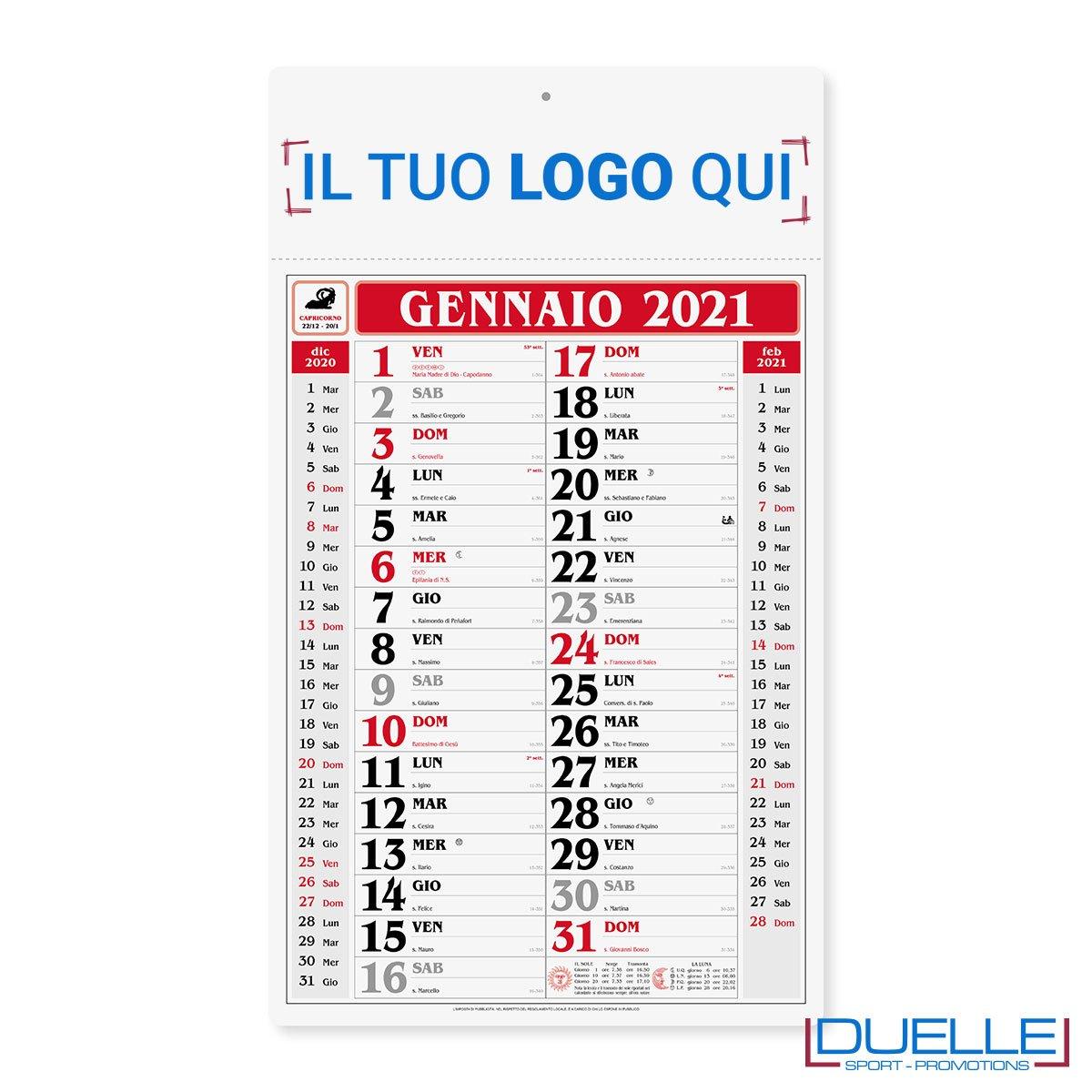 Calendari olandesi personalizzati 2021 con stampa a colori su testata