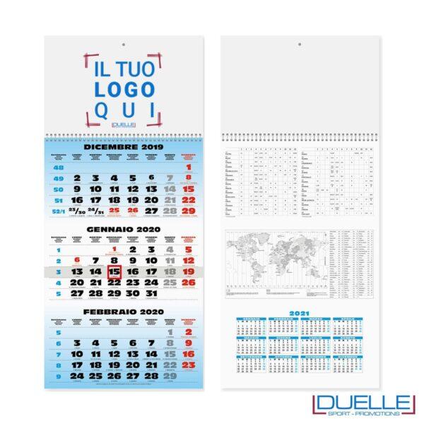 Calendario trittico 2020 personalizzato con spirale