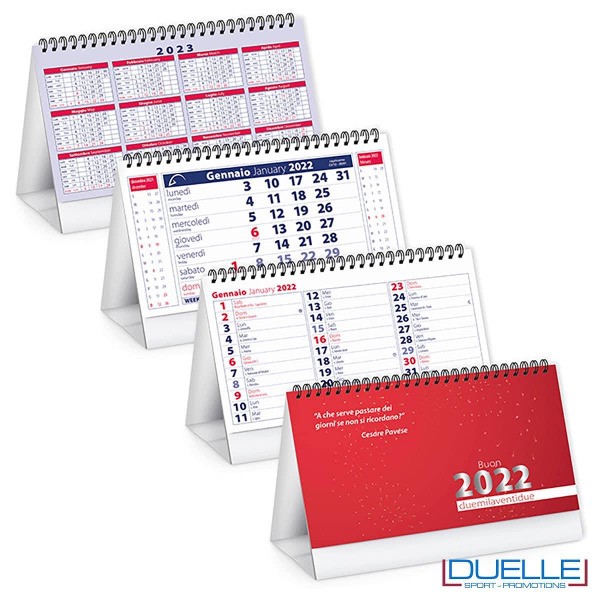 calendario da tavolo 2022 rosso