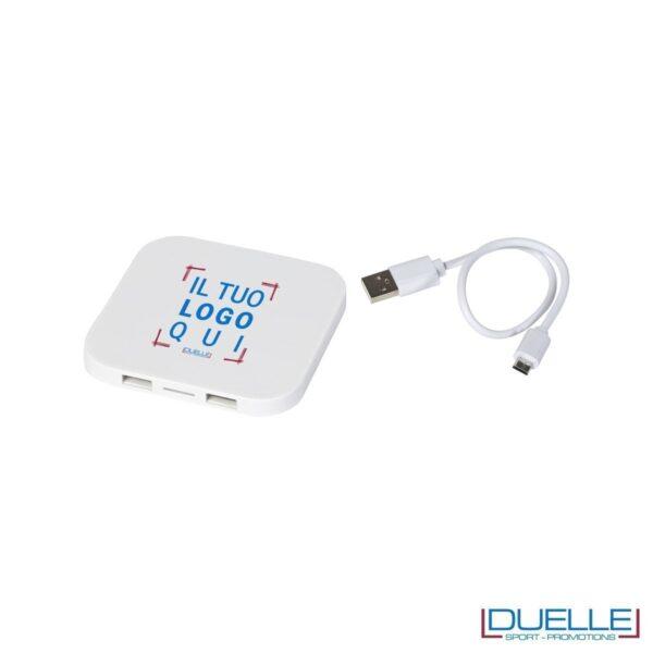 Caricatore wireless promozionale pesonalizzabile con stampe colore bianco