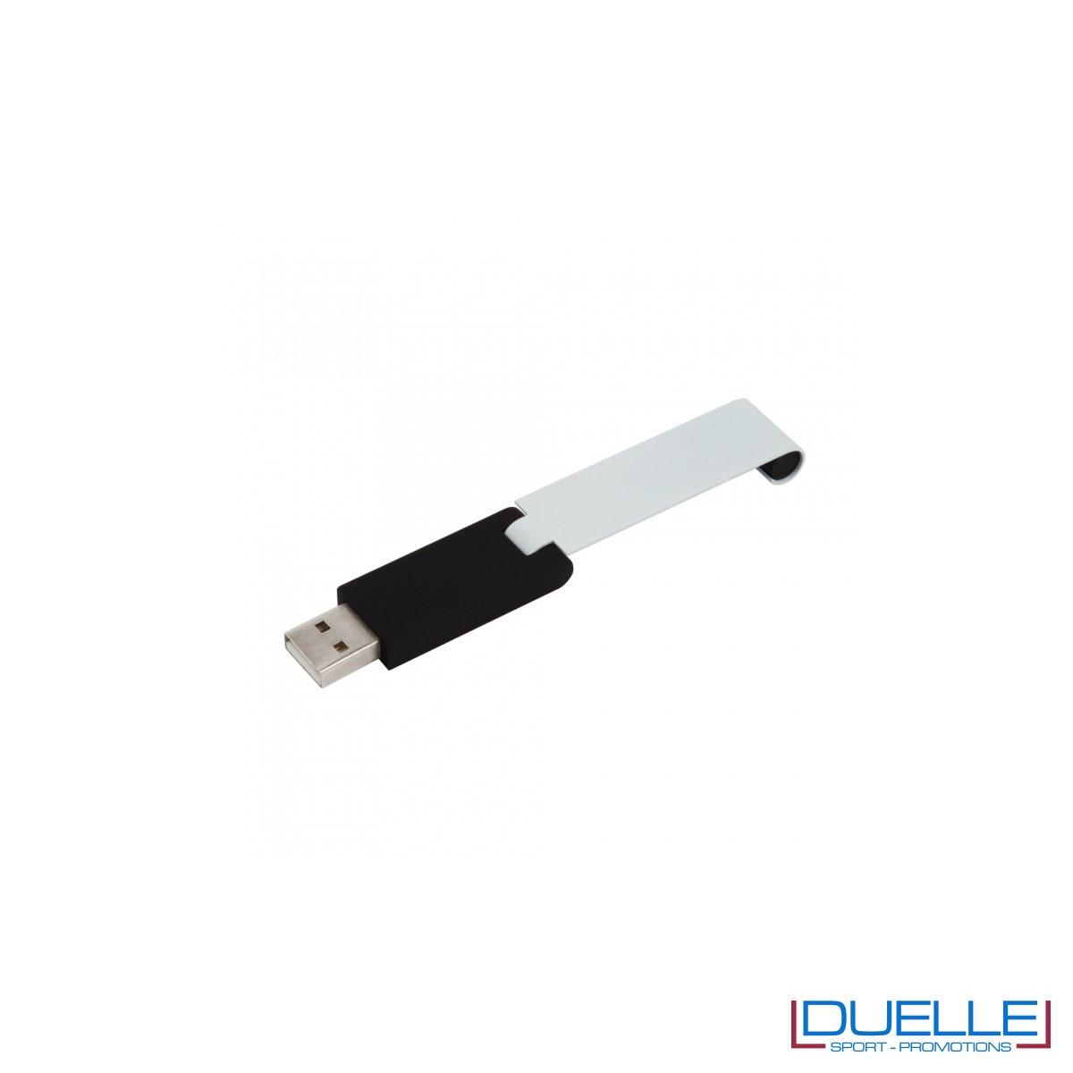 Chiavetta USB 2.0 nera personalizzata con incisione