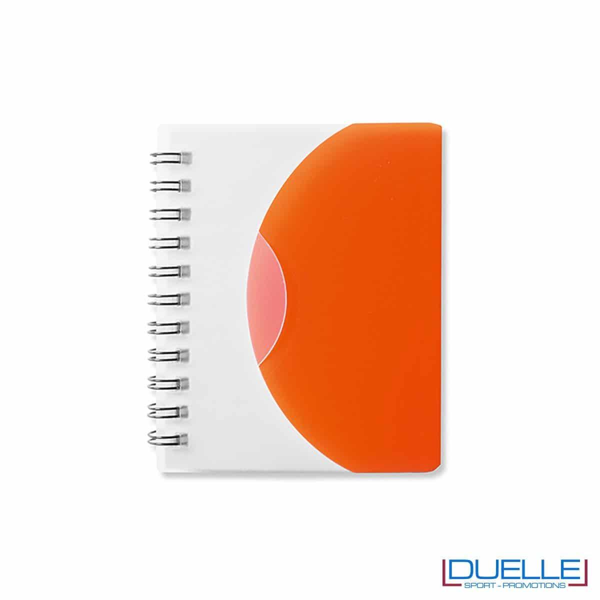 Quaderno spiralatoin plastica traslucida colore arancione