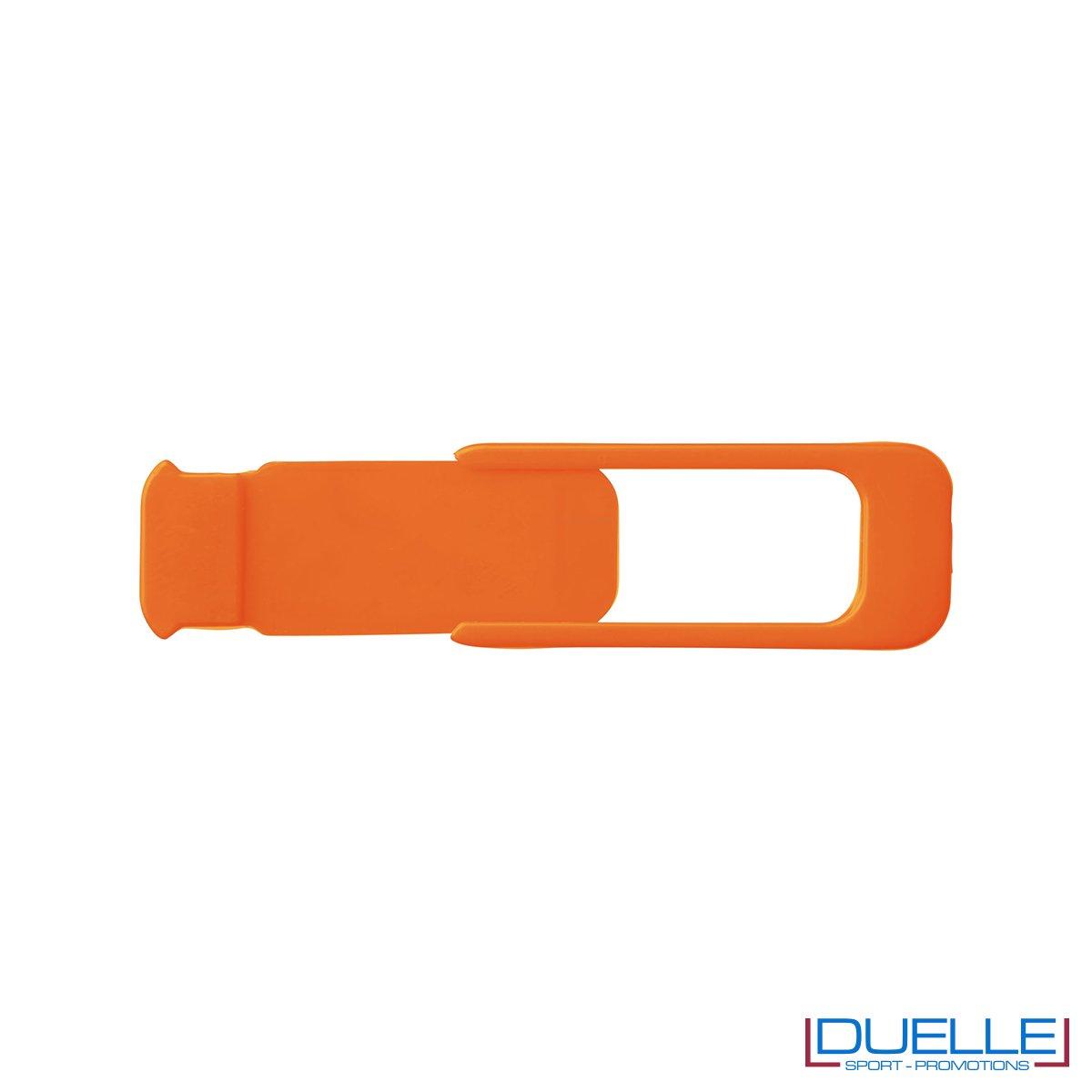 Cover camera per tablet e pc colore arancione personalizzata con stampa