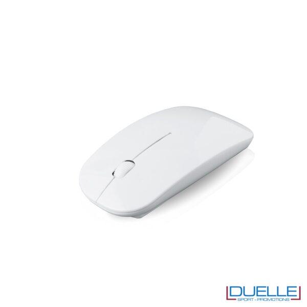 Mouse wireless bianco personalizzato con stampa a colori