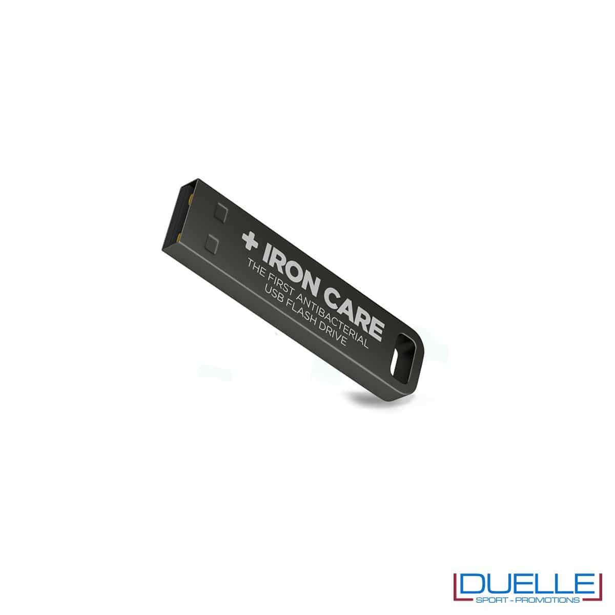 Chiavetta USB antibatterica personalizzata con incisione