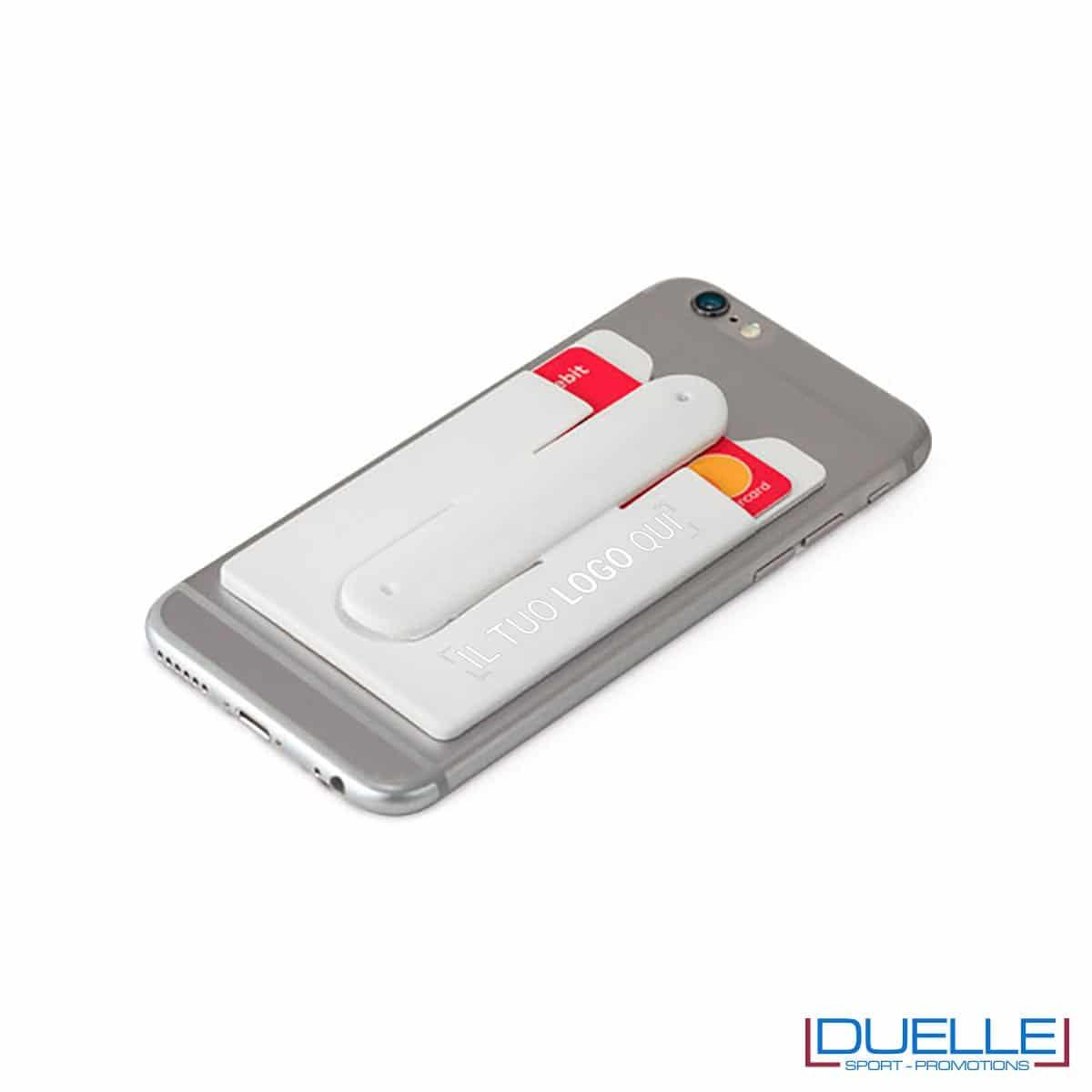 Porta biglietti in silicone con supporto per smartphone personalizzato