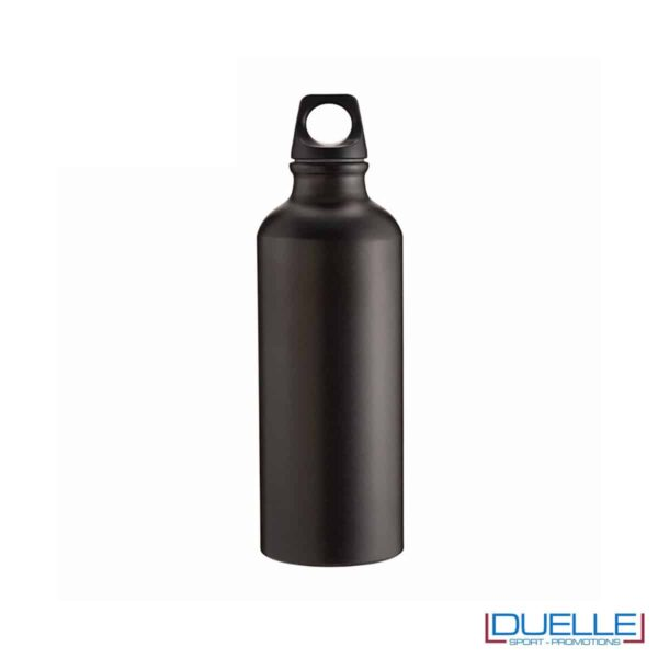 Borraccia sportiva alluminio 500ml colore nero metallizzato opaco