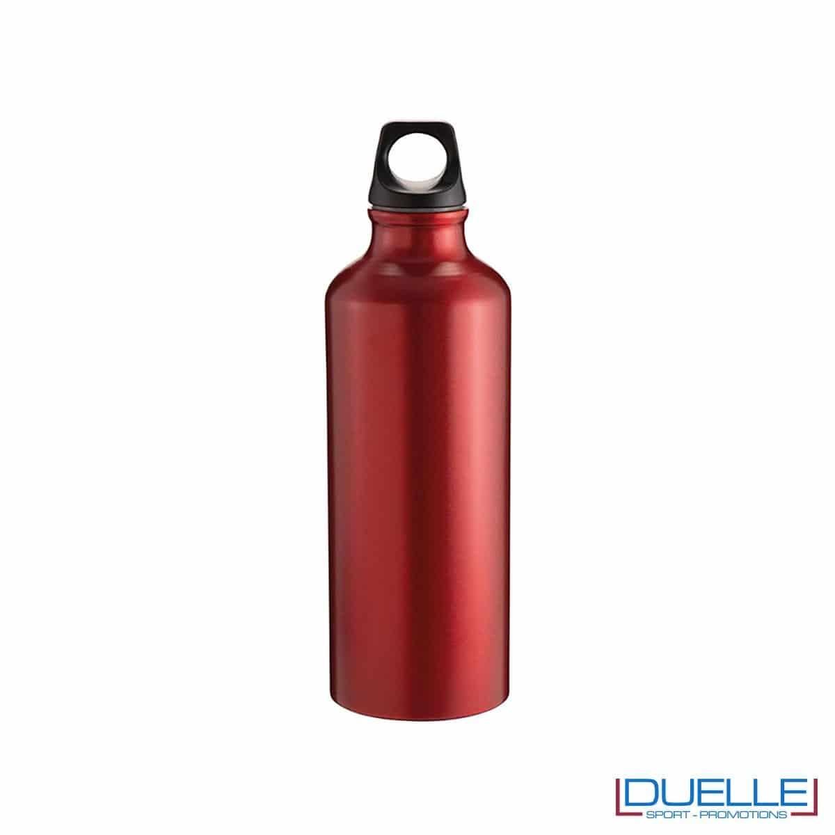 Borraccia sportiva alluminio 500ml colore rosso metallizzato opaco