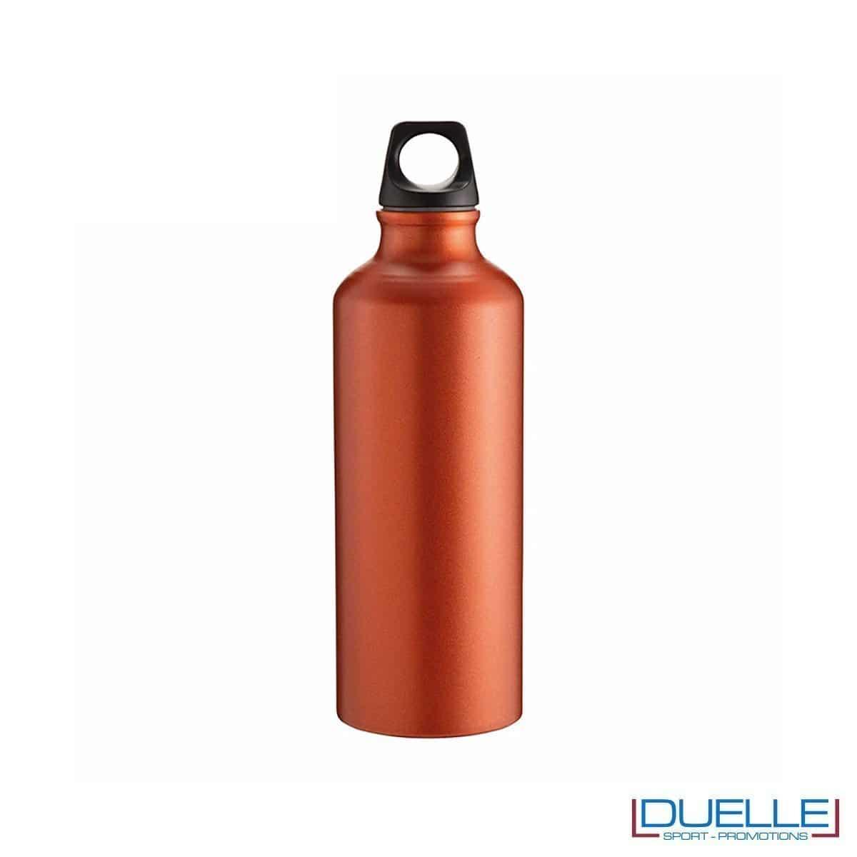 Borraccia sportiva alluminio 500ml colore arancione metallizzato opaco