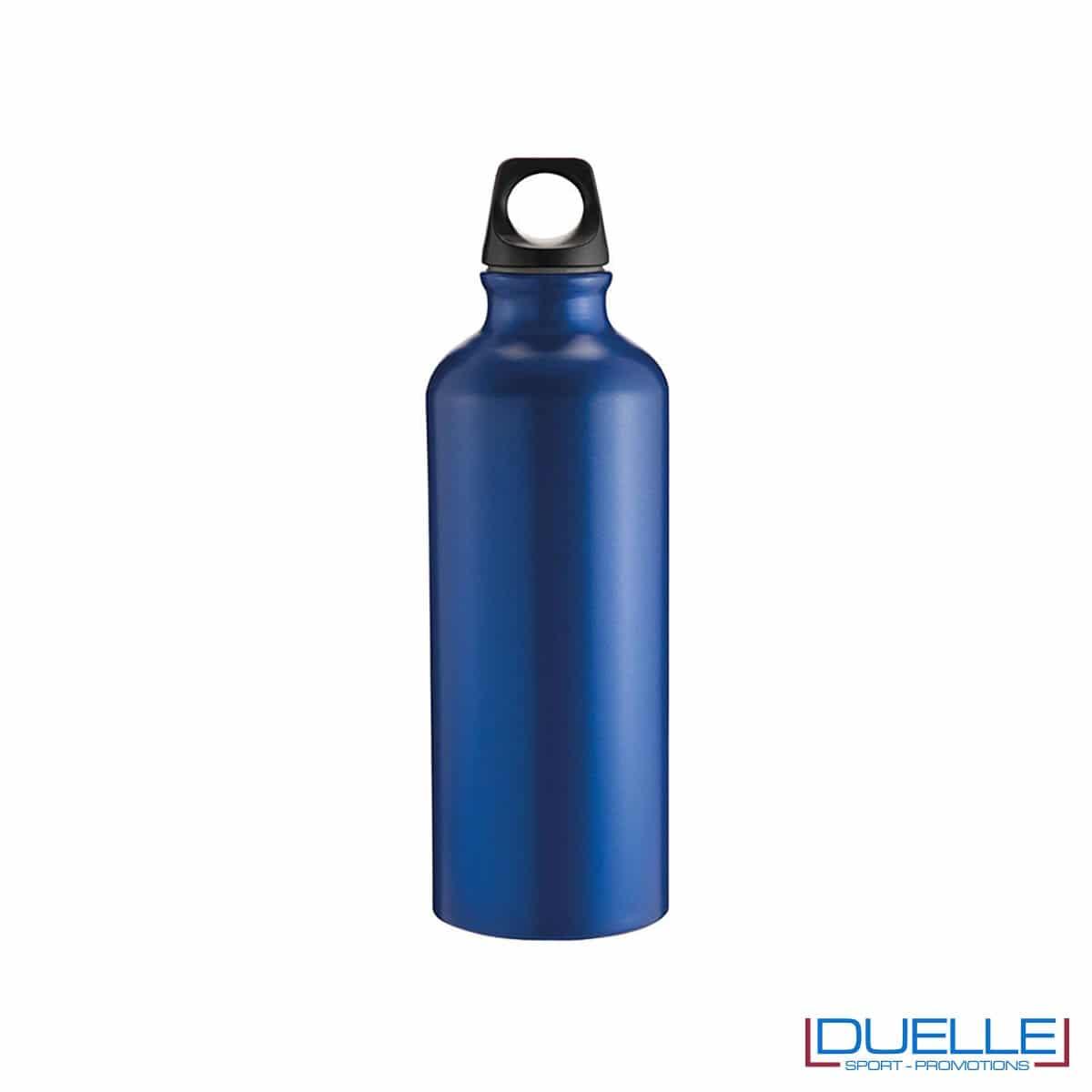 Borraccia sportiva alluminio 500ml colore blu metallizzato opaco