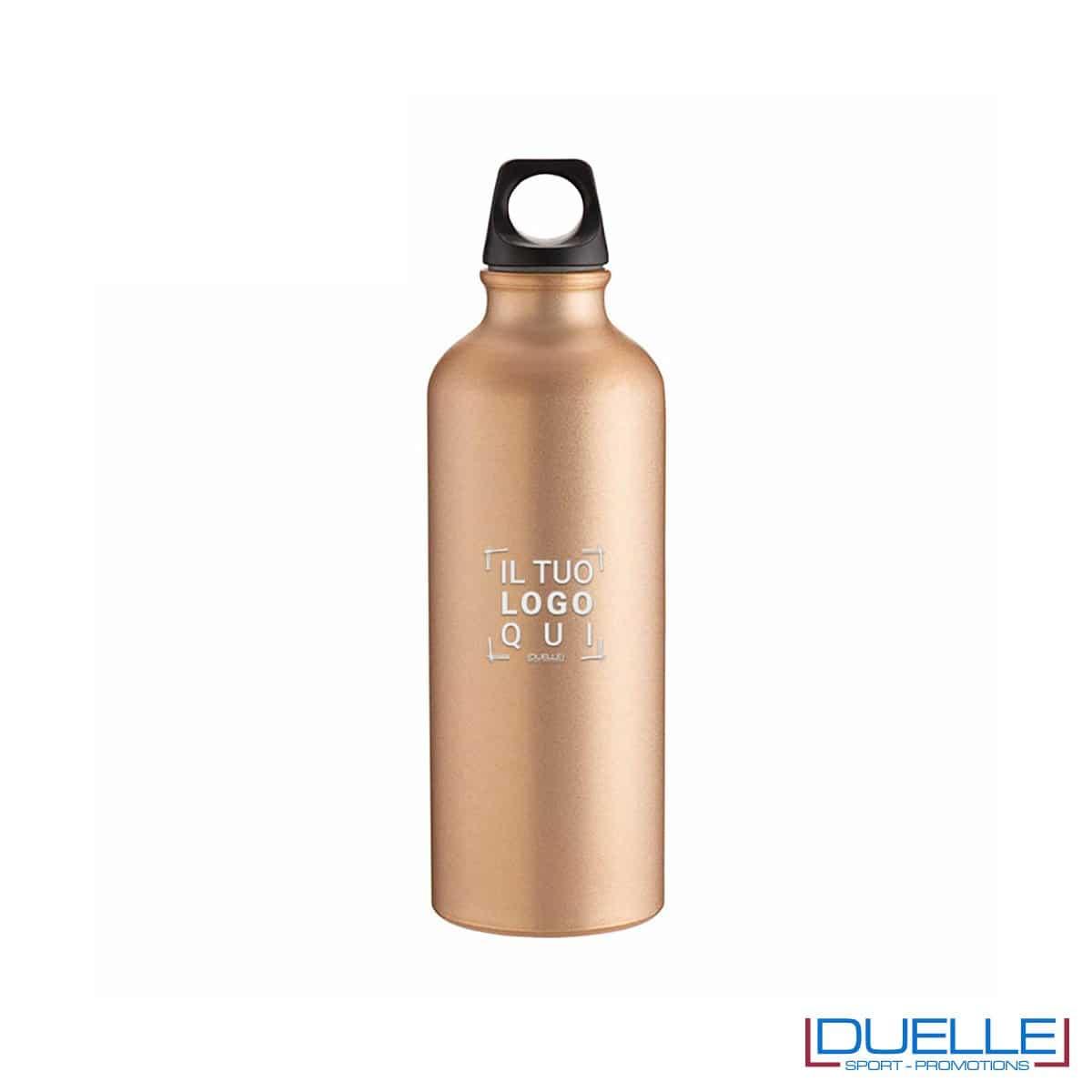 Borraccia sportiva alluminio 500ml colore oro metallizzato opaco