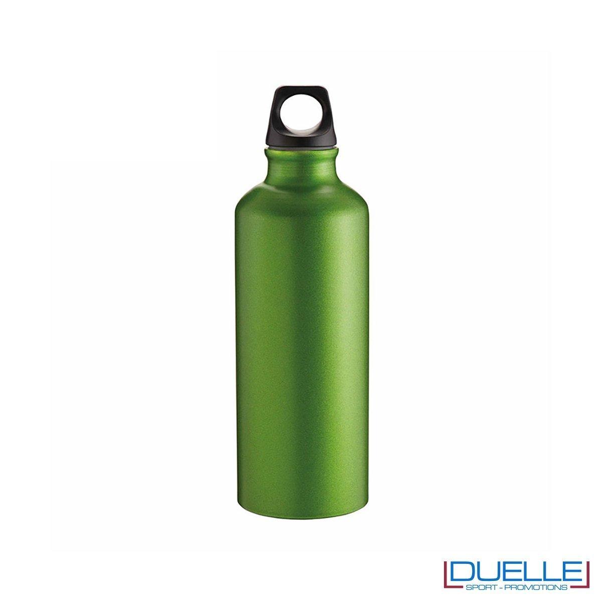 Borraccia sportiva alluminio 500ml colore verde metallizzato opaco