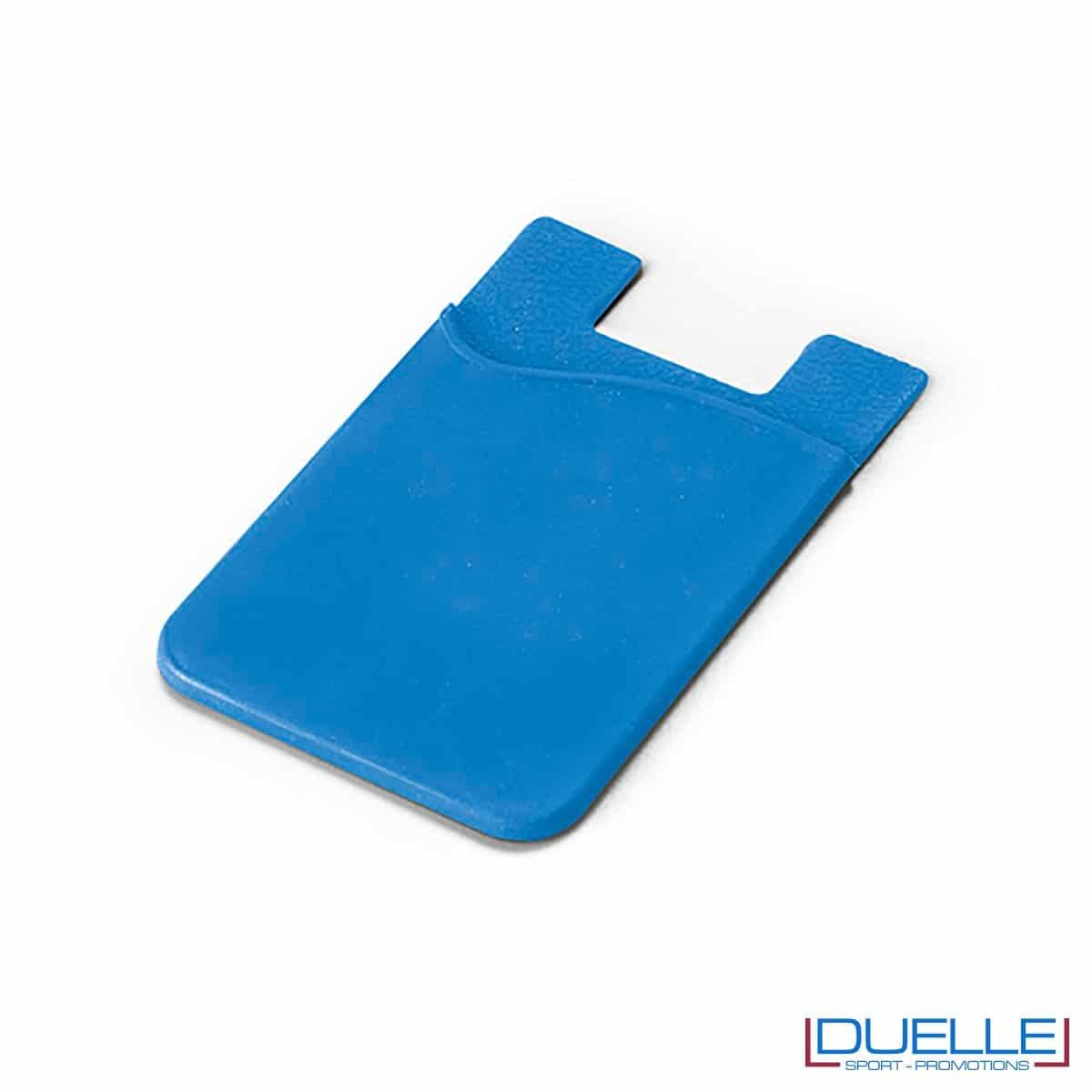 Porta biglietti da visita personalizzato in silicone colore azzurro