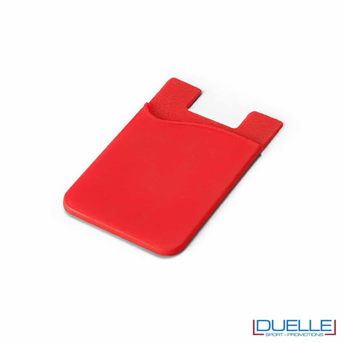 Porta biglietti da visita personalizzato in silicone colore rosso