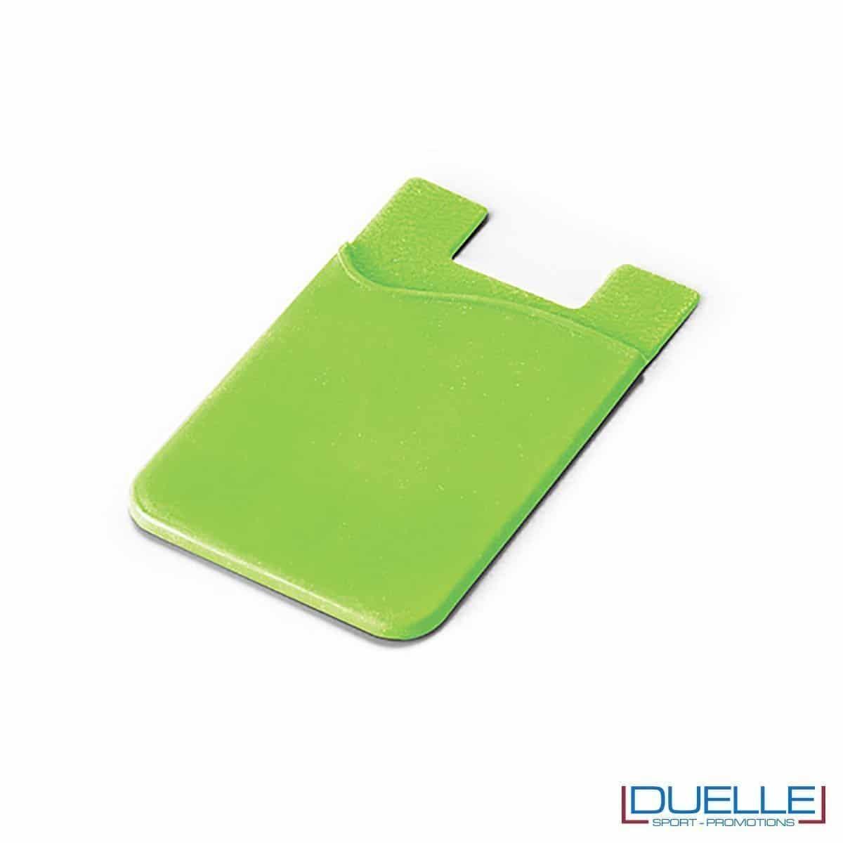 Porta biglietti da visita personalizzato in silicone colore verde