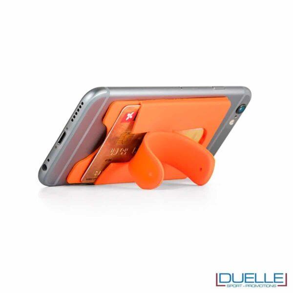 Porta biglietti con supporto per smartphone in silicone personalizzabile