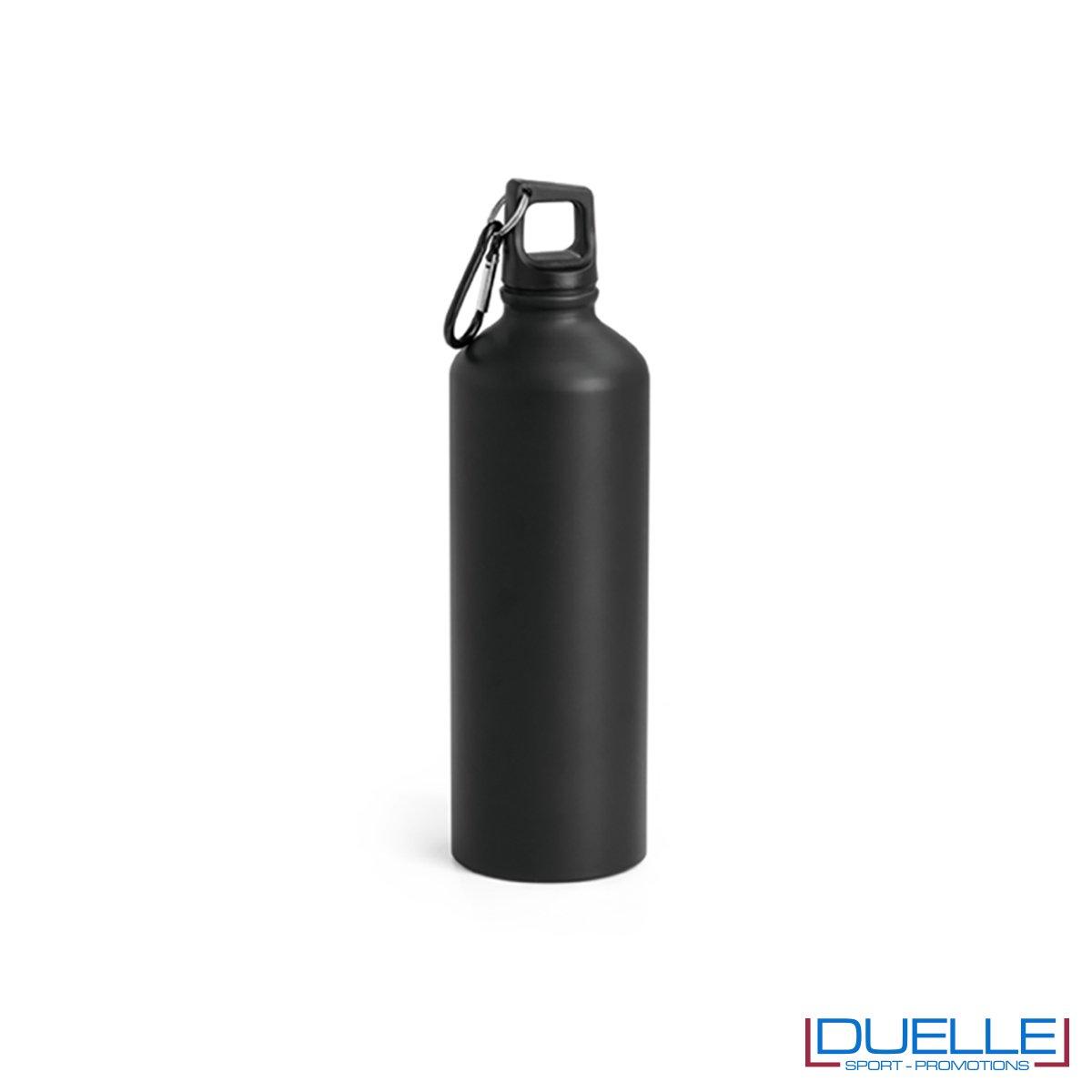 Borraccia in alluminio personalizzata con incisione colore nero