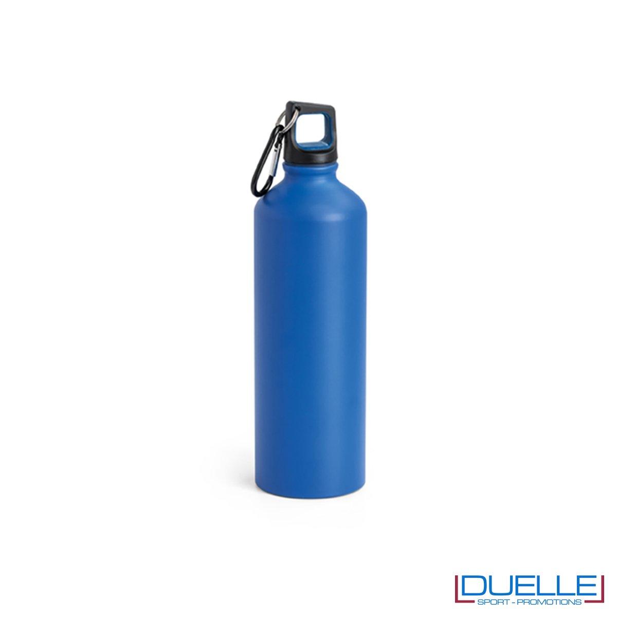 Borraccia in alluminio personalizzata con incisione colore blu