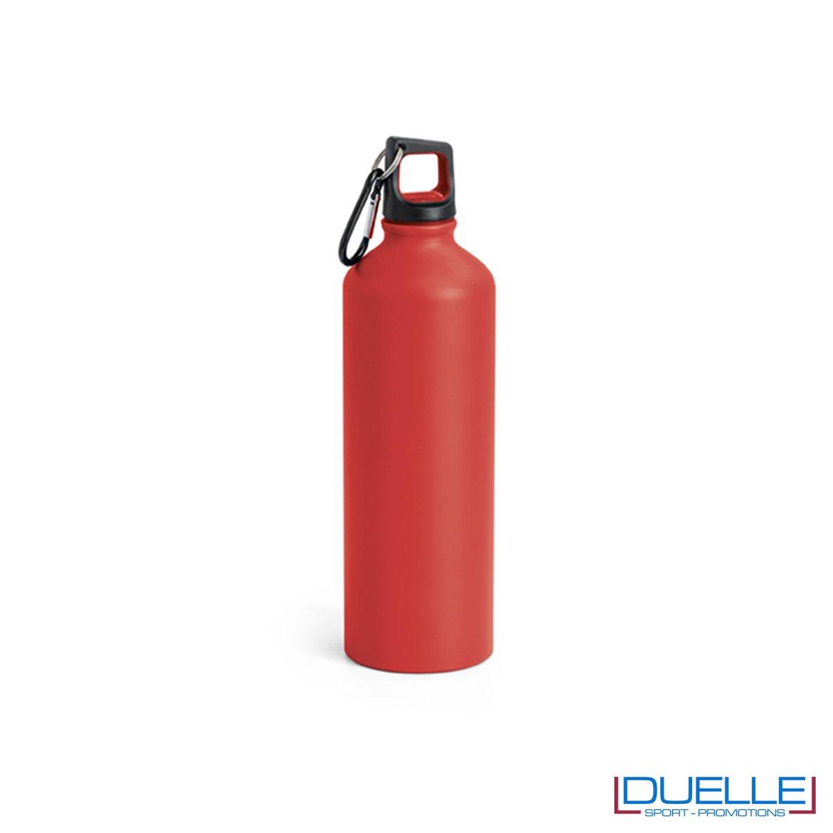 Borraccia in alluminio personalizzata con incisione colore rosso