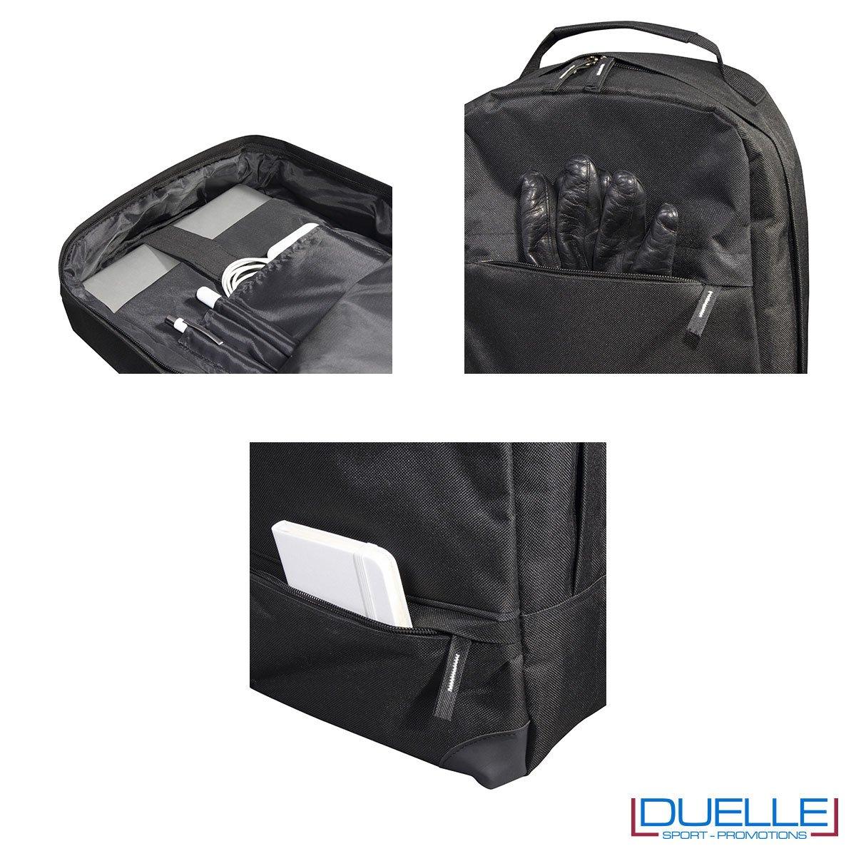 Dettagli zaino porta pc personalizzato colore nero
