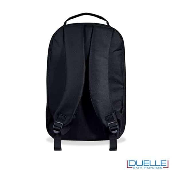 Zaino porta pc personalizzato colore nero schienale imbottito
