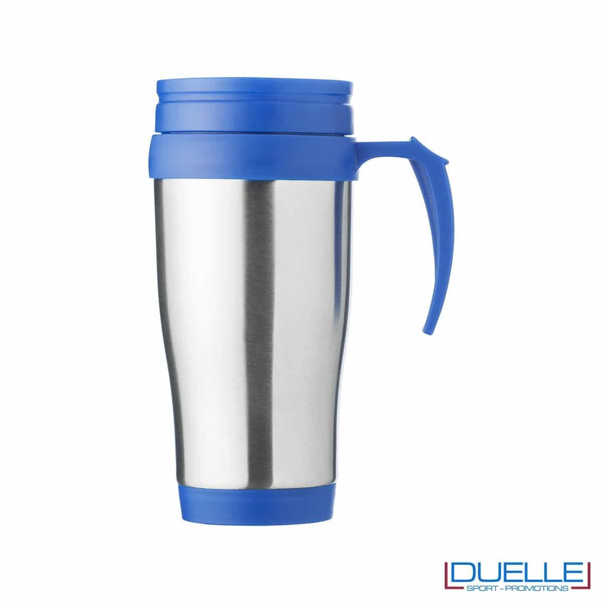 Tazza termica personalizzata colore blu