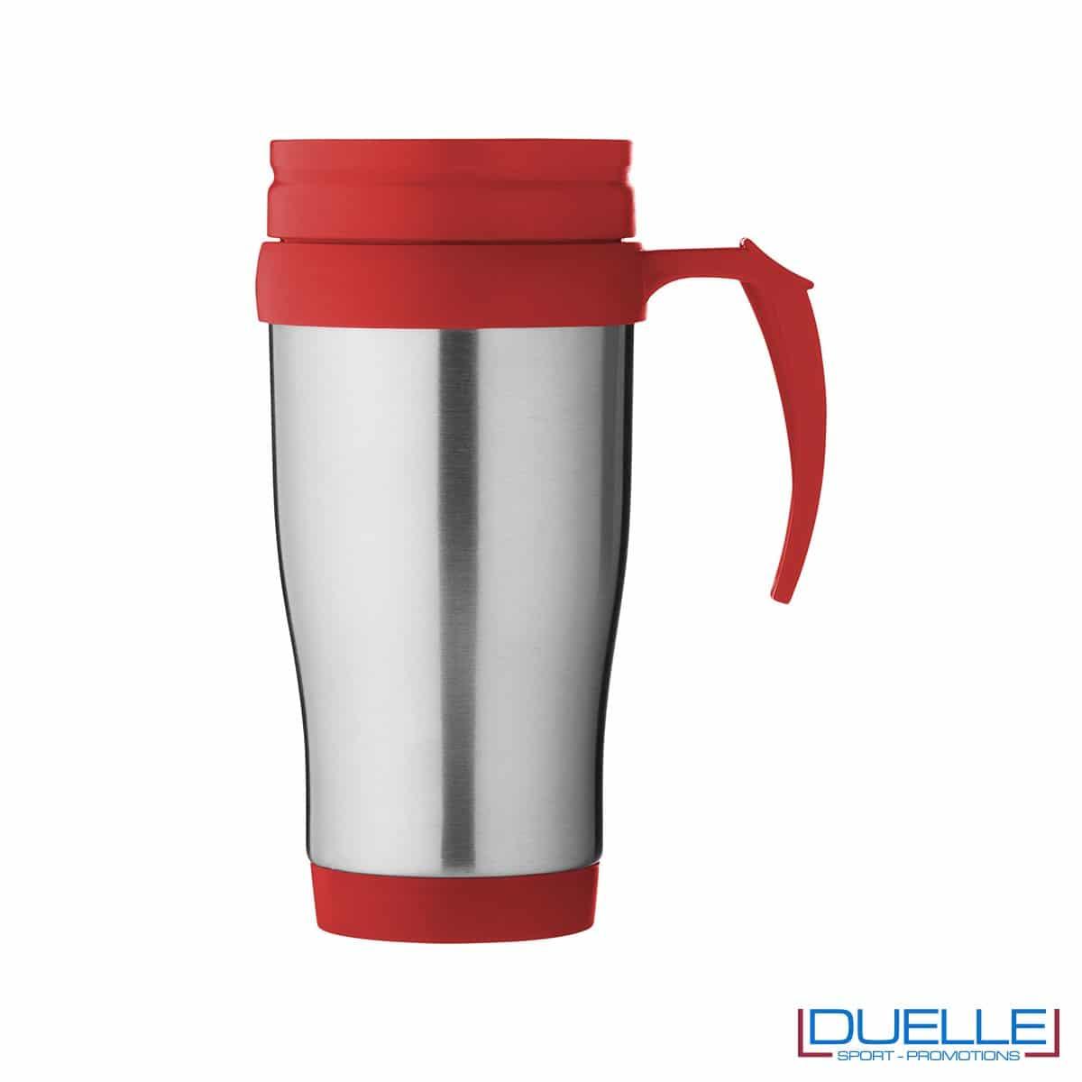 Tazza termica personalizzata colore rosso