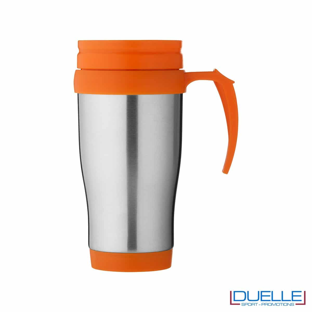 Tazza termica personalizzata colore arancione