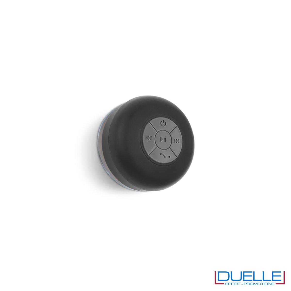 Altoparlante bluetooth personalizzato waterproof colore nero