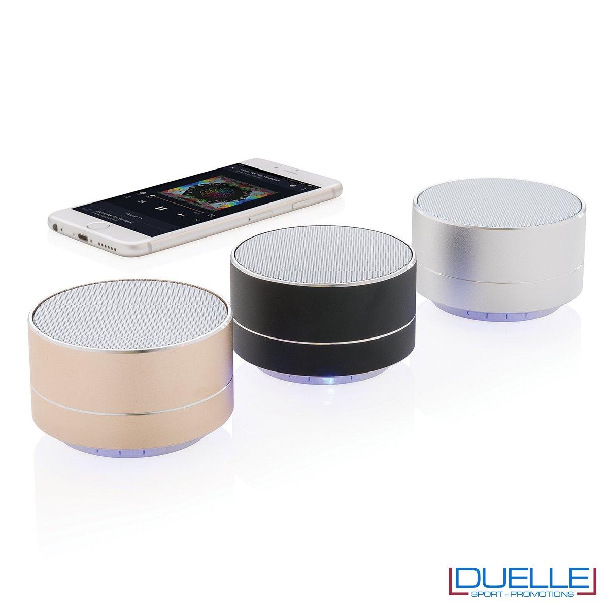 Speaker wireless personalizzati con incisione in alluminio
