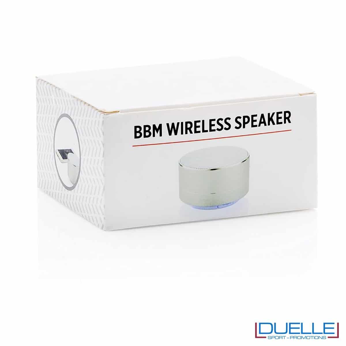 Confezione per speaker wireless personalizzati con incisione