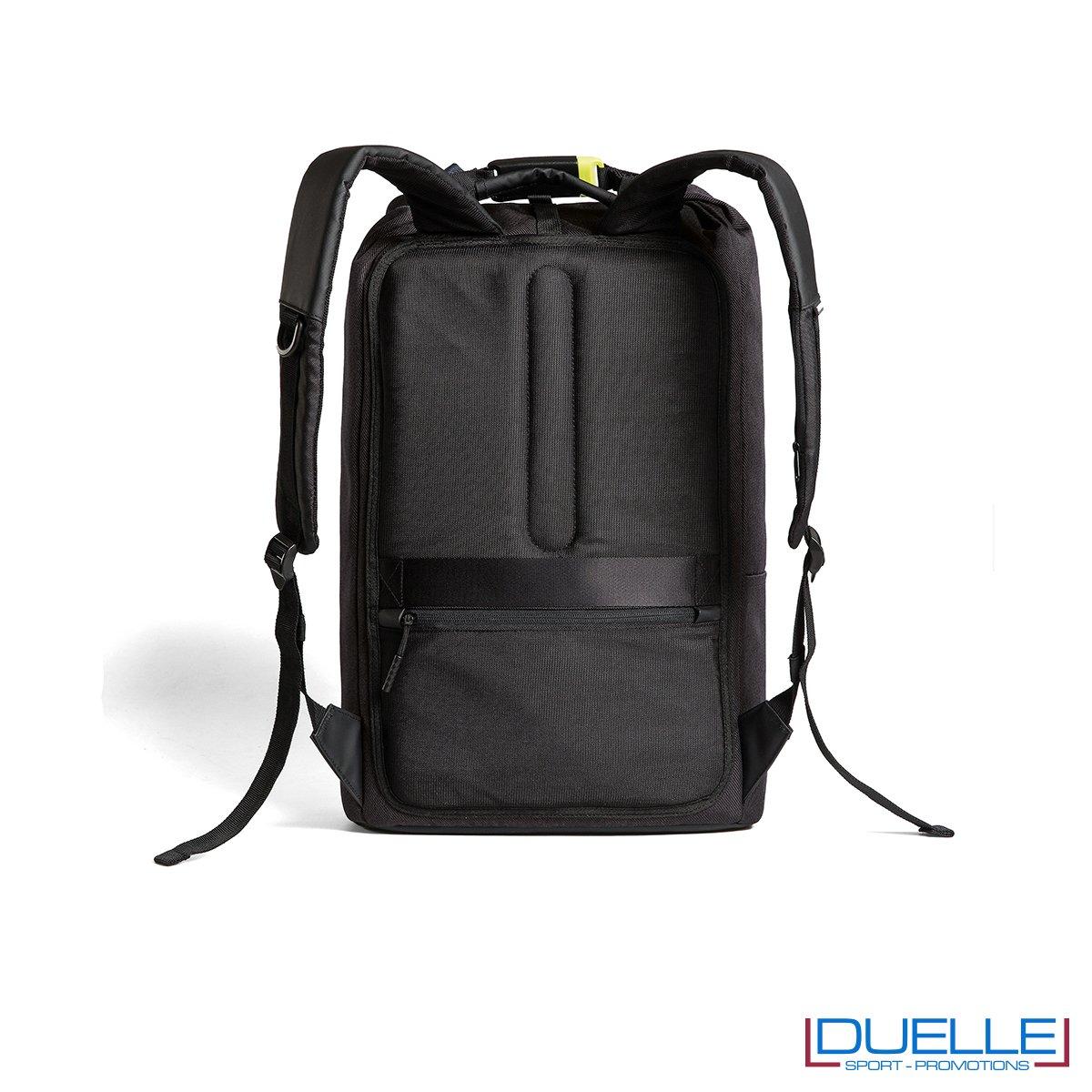 Zaino personalizzato antitaccheggio schienale con tasche e spallacci con taschini con protezione RFID Bobby Urban Lite