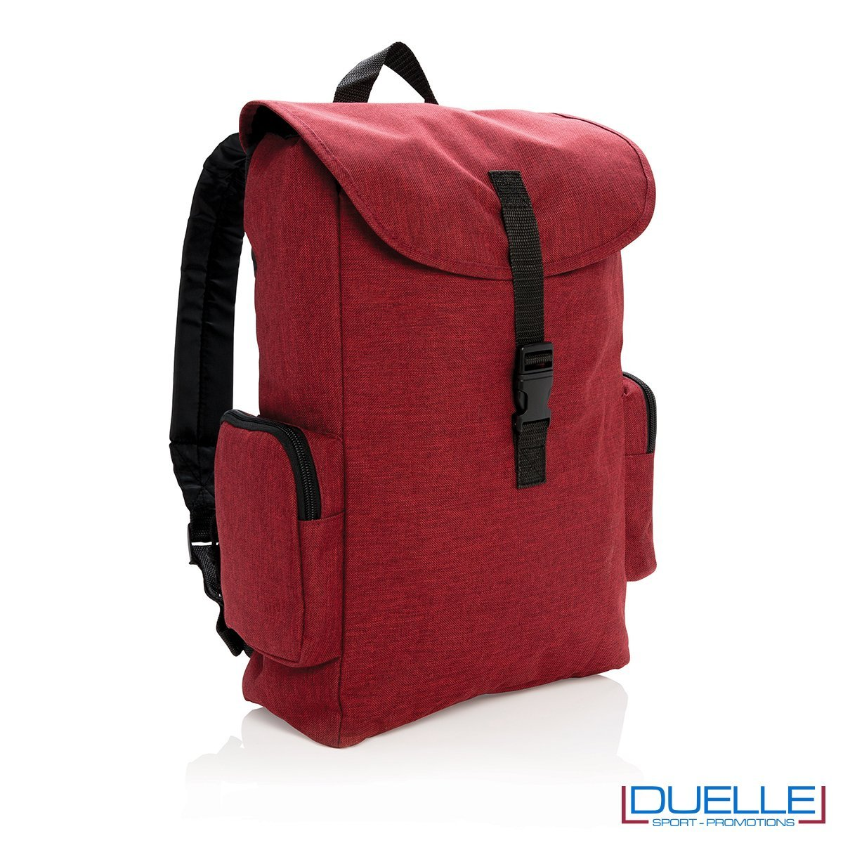 Zaino porta pc 15'' personalizzato con stampa o ricamo colore rosso