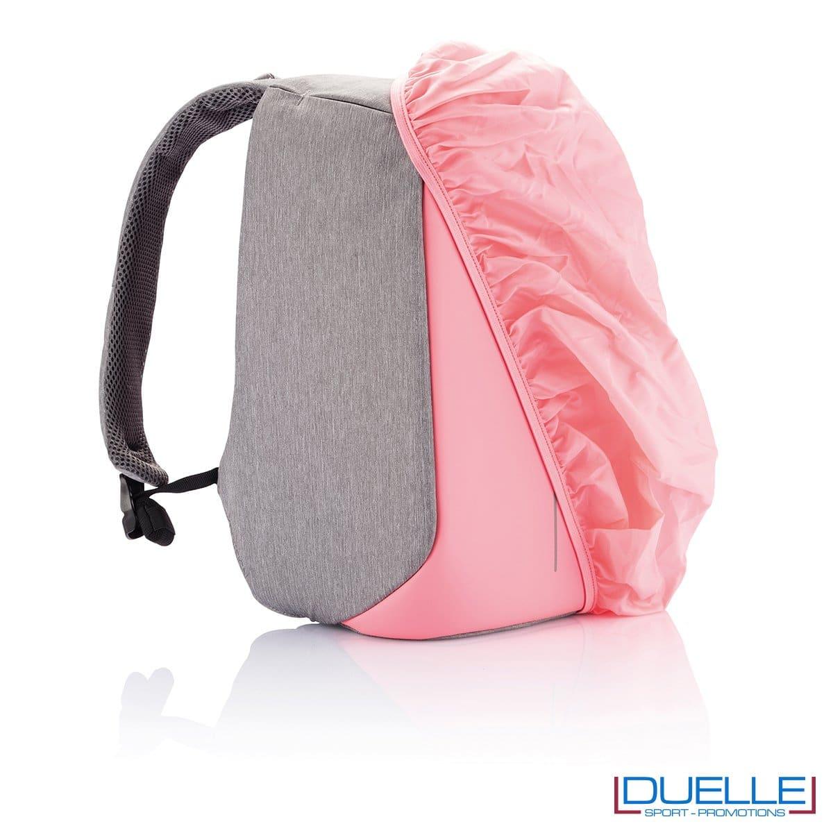 Guaina antipioggia per zaino anti taccheggio personalizzato colore rosa