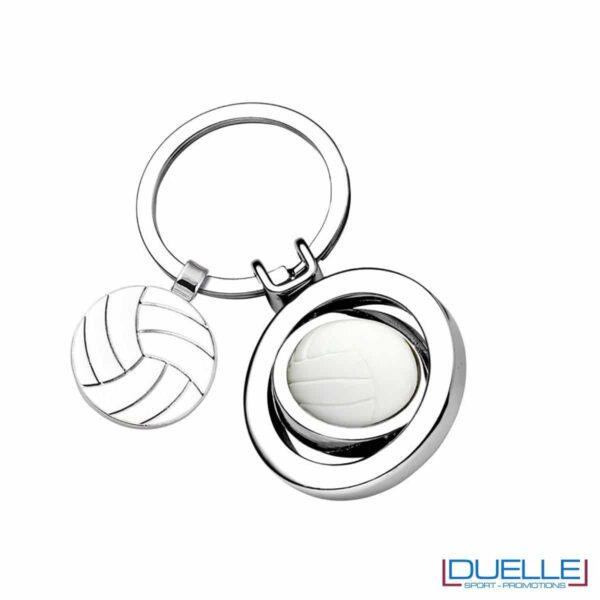 Portachiavi personalizzato pallavolo in metallo