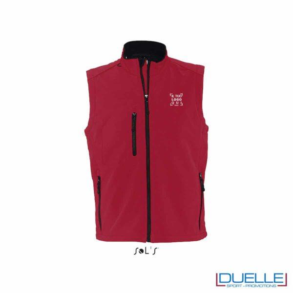 Gilet softshell personalizzato colore rosso