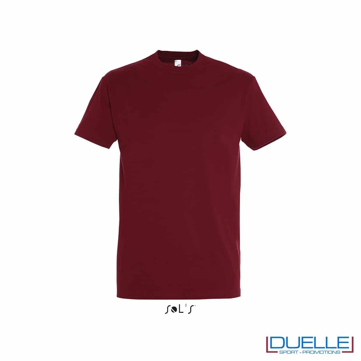 T-shirt promozionale in cotone pesante colore rosso chili personalizzata con stampa o ricamo