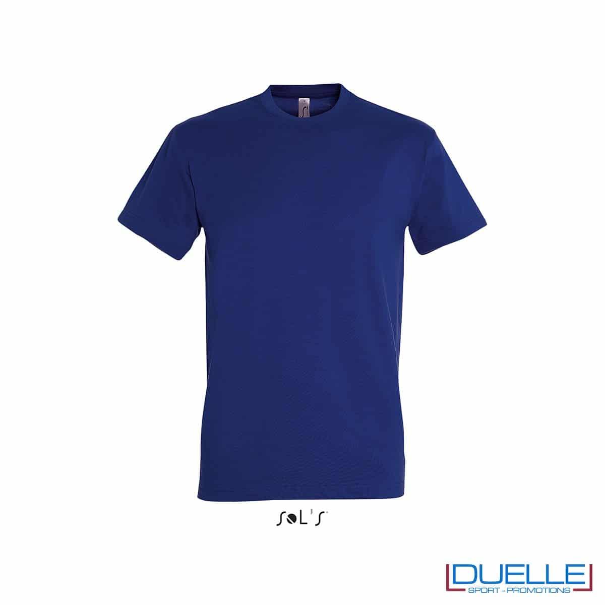 Maglietta in cotone pesante blu coloniale personalizzata con stampa o ricamo