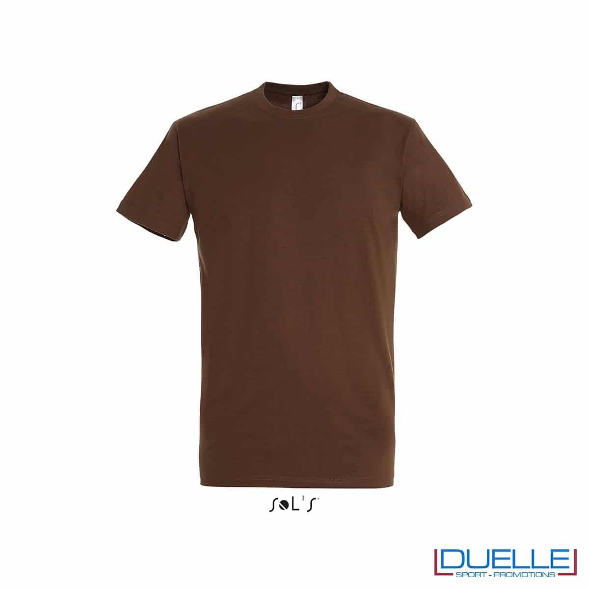 T-shirt promozionale in cotone pesante colore terra personalizzata con ricamo o stampa