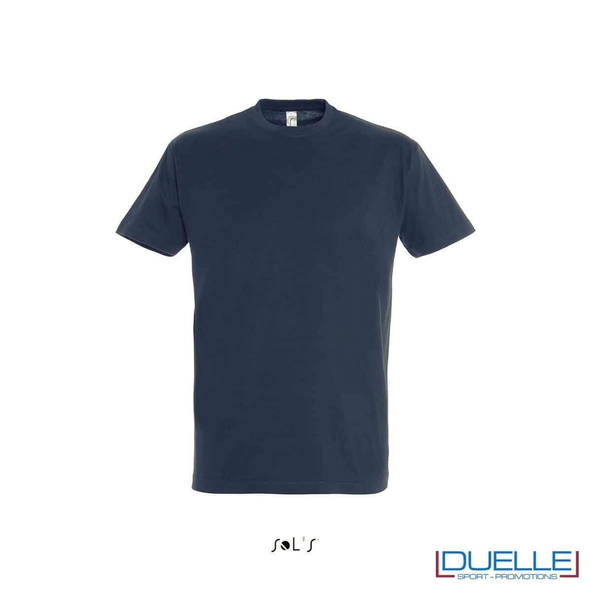Maglietta promozionale in cotone pesante blu oltremare personalizzata con stampa o ricamo
