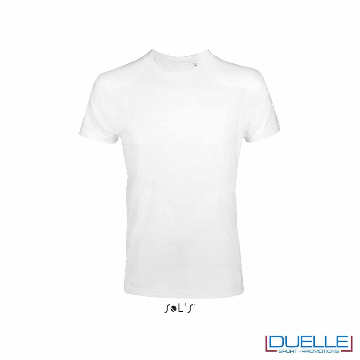 Maglietta uomo slim fit in cotone pesante colore bianco