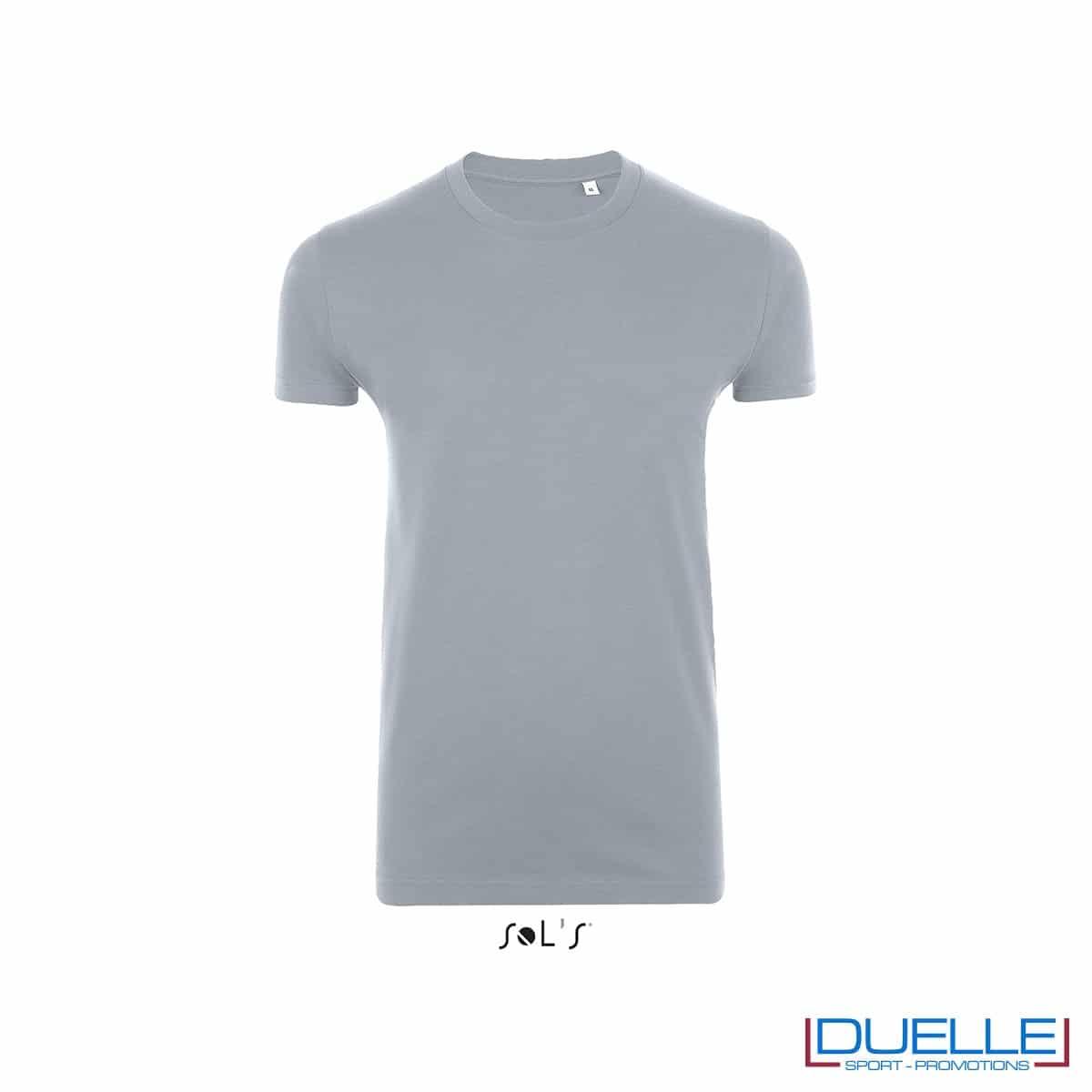 T-shirt slim fit in cotone pesante colore grigio